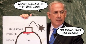netanyahu cartoon bomb2